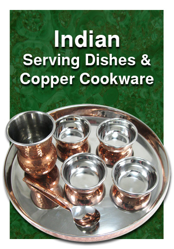 copper cookware and indian dishes
